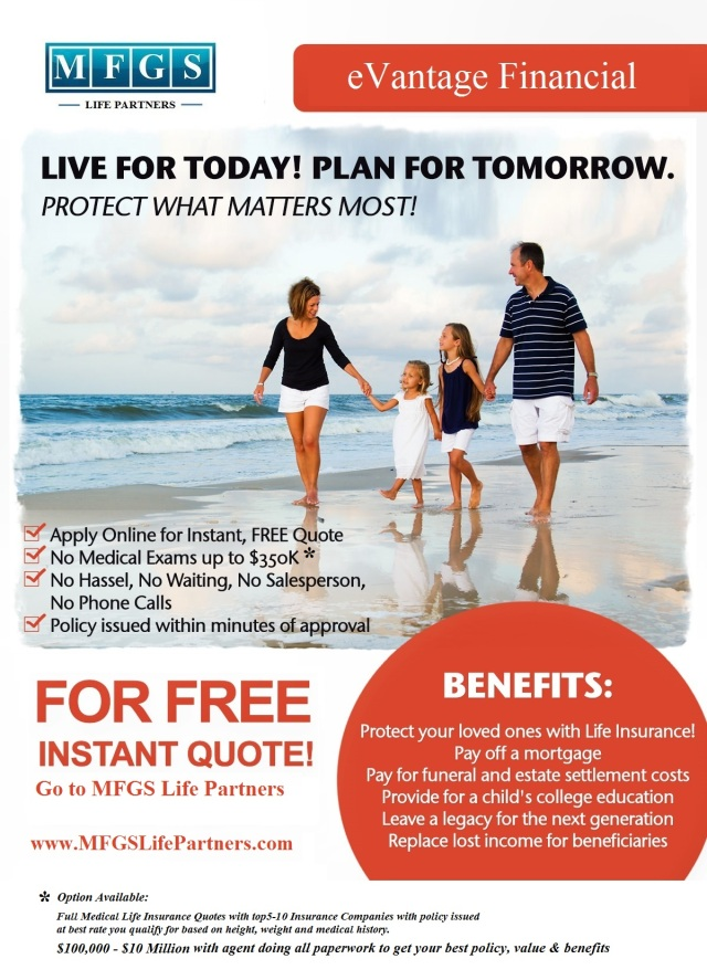 Instant Term Quote With Or Without Medical Exam MFGS Life Beauteous Instant Quote Life Insurance